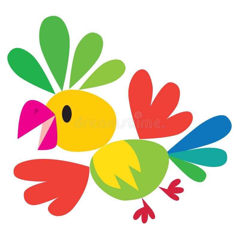 Dziecko wektorowa ilustracja śmieszna papuga ilustracja wektor
