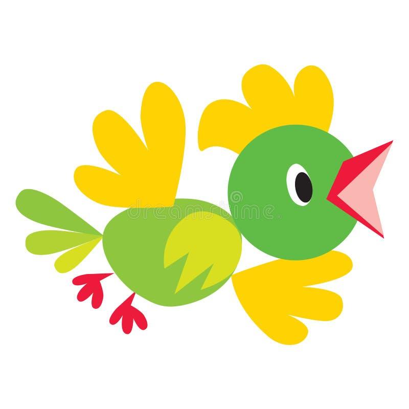 Dziecko wektorowa ilustracja śmieszny ptak lub ilustracji