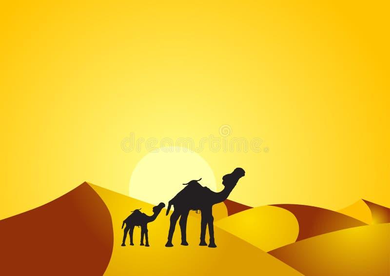 dziecko wielbłąd ilustracja wektor