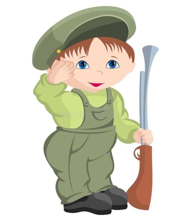 Dziecko - wojskowy royalty ilustracja