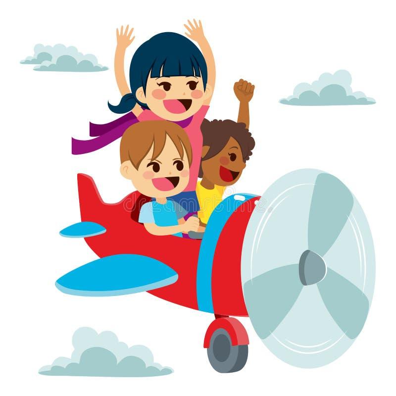 Dziecko wyobraźni samolotu zabawa royalty ilustracja