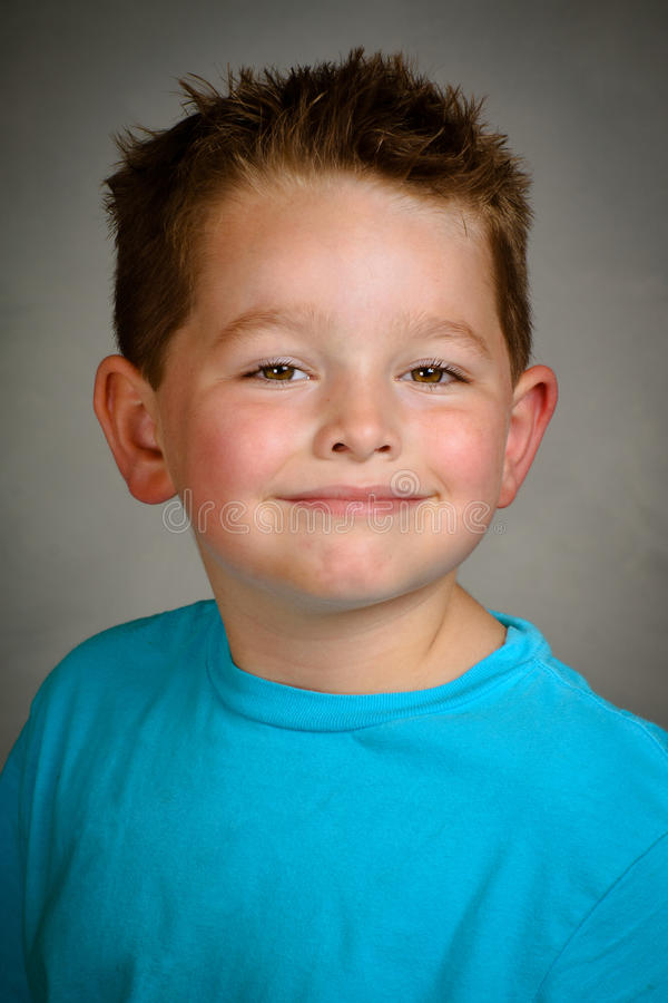 Dziecko yearbook szkolny portret zdjęcie royalty free