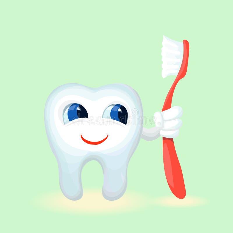 Dziecko zębów opieka i higieny kreskówki mieszkanie royalty ilustracja