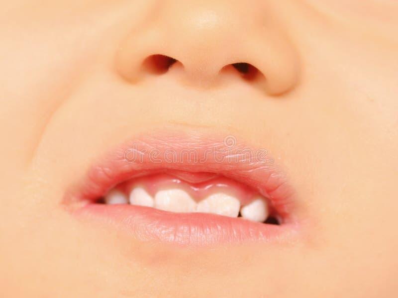 Dziecko zęby obraz royalty free