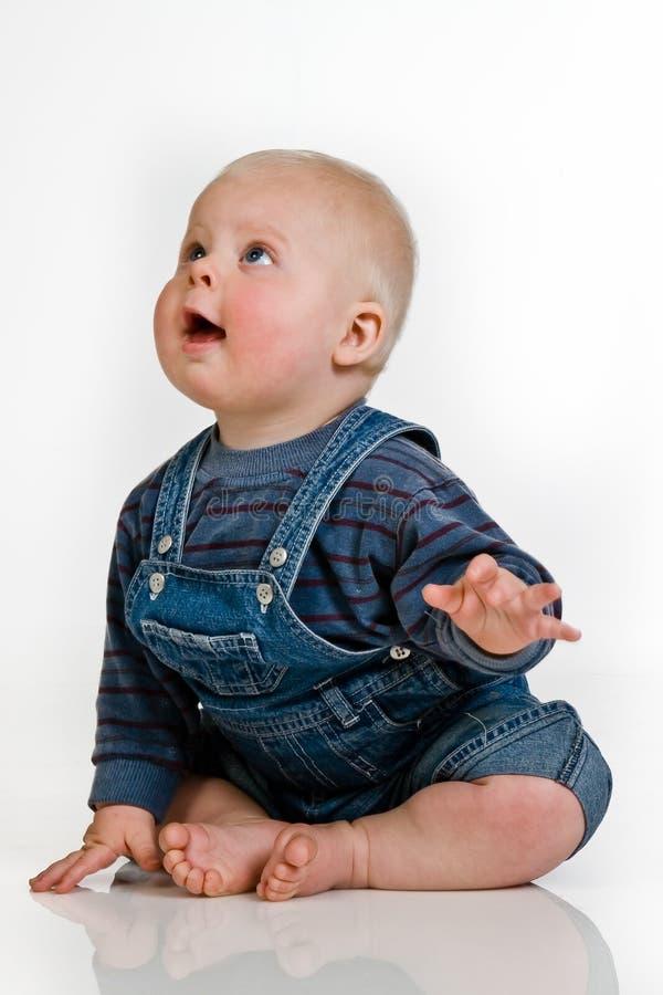 dziecko z lewej strony target762_0_ studio obraz stock