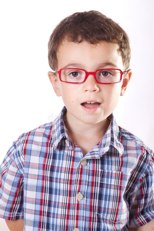 Dziecko z szkłami zdjęcia royalty free