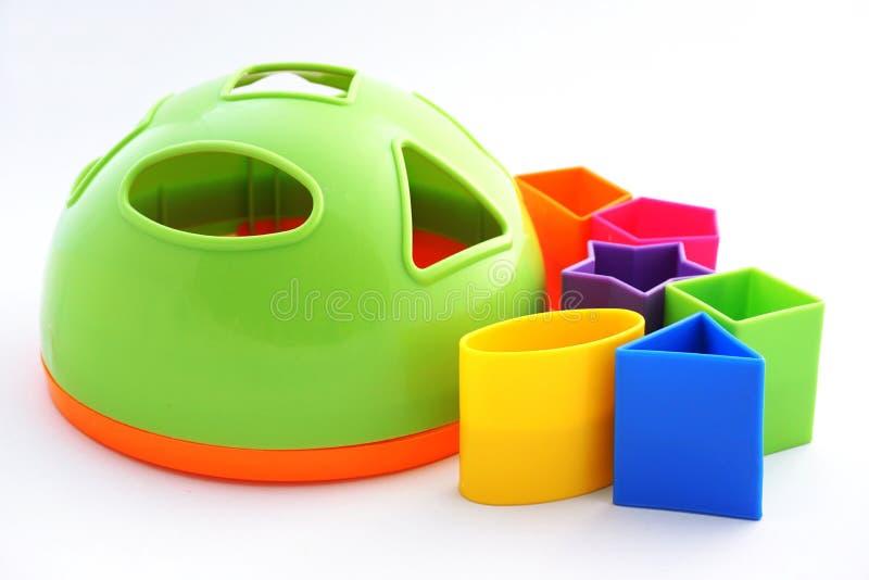 Dziecko zabawka - kolorowa brakarka obraz royalty free