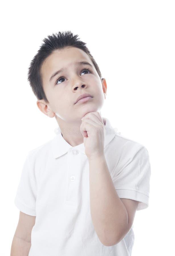 dziecko zadumany zdjęcia stock