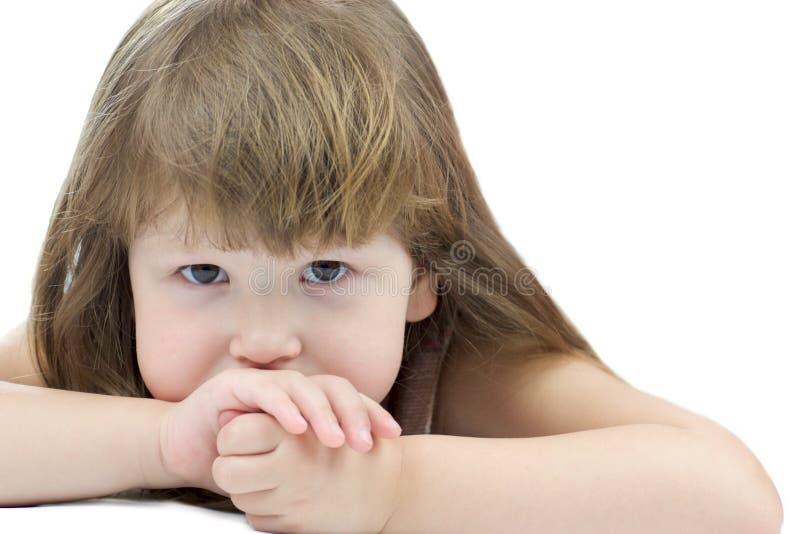 dziecko zadumany obrazy stock