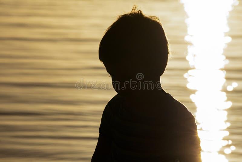 Dziecko zmierzch zdjęcie royalty free