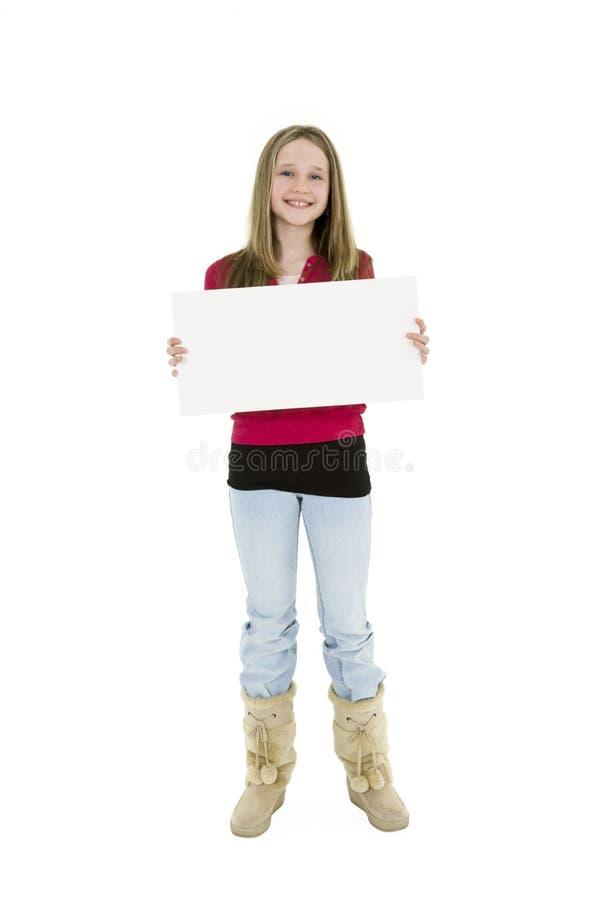 dziecko znak gospodarstwa zdjęcia royalty free