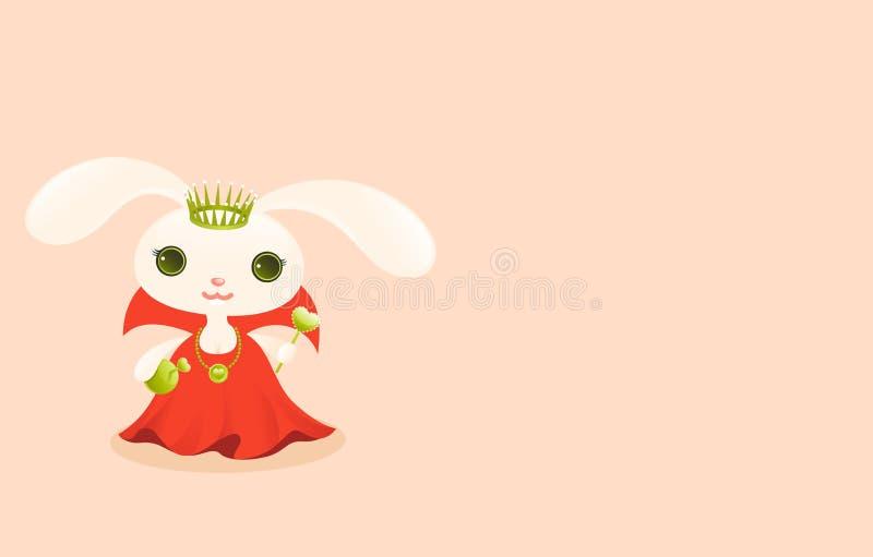 dziecko zwierząt słodka królowej. royalty ilustracja