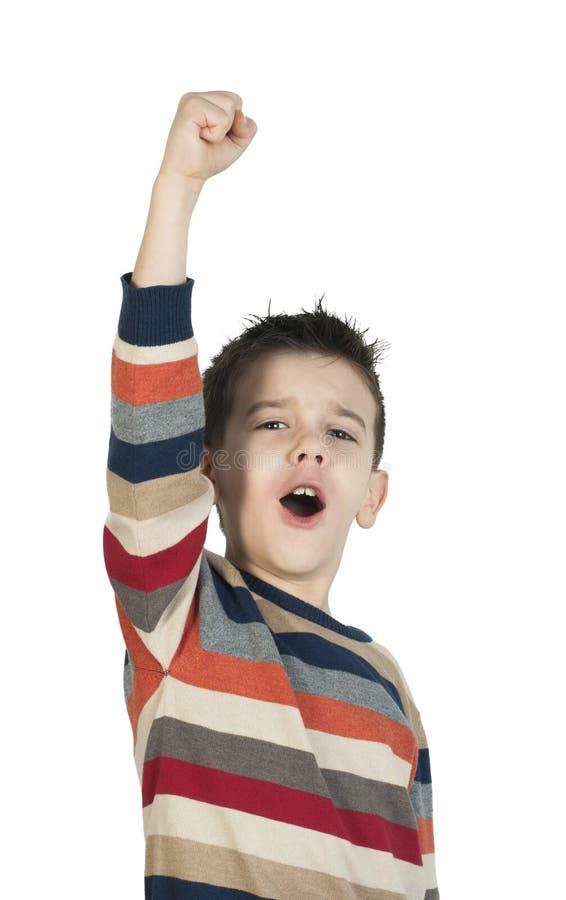Dziecko zwycięzca zdjęcia stock