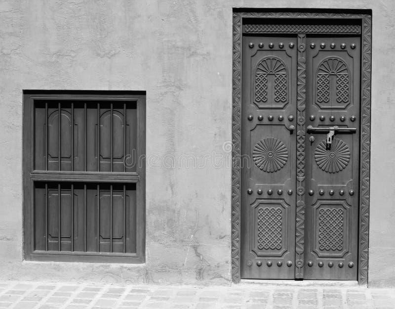 dziedzictwa arabski drzwiowy okno obrazy stock