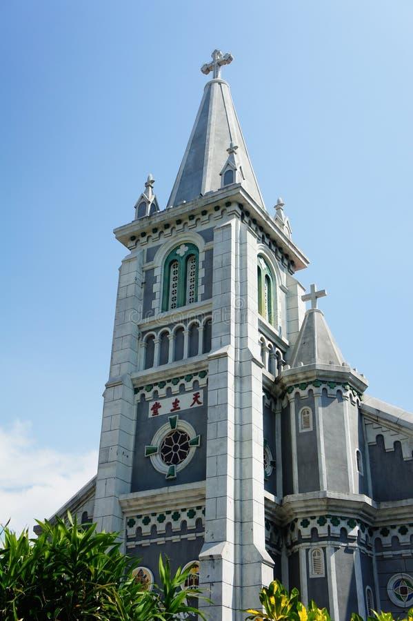 Dziejowa Święta Różańcowa katedra obrazy royalty free