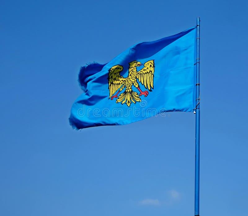 Dziejowa flaga Friuli ojczyzna region autonomiczny Italy, dzisiaj ilustracja wektor