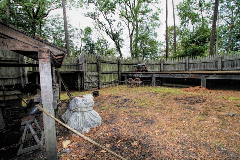 Dziejowa Jamestown ugoda, artefakty i zdjęcia stock