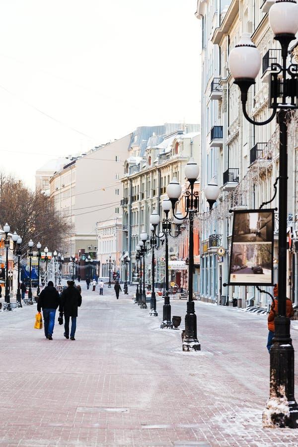 Dziejowa zwyczajna Arbat ulica w Moskwa obraz stock