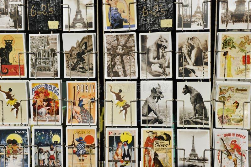 Dziejowe obrazek pocztówki, Paryż obrazy stock