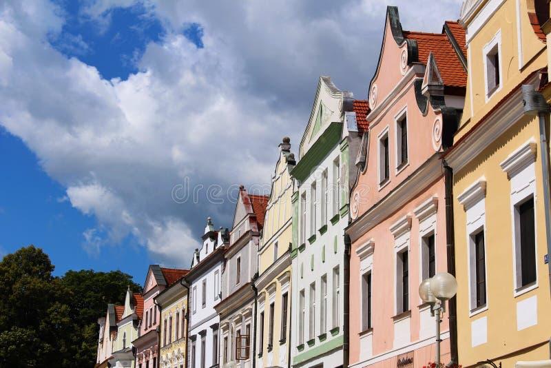 Dziejowi budynki w Třeboň, republika czech obrazy stock