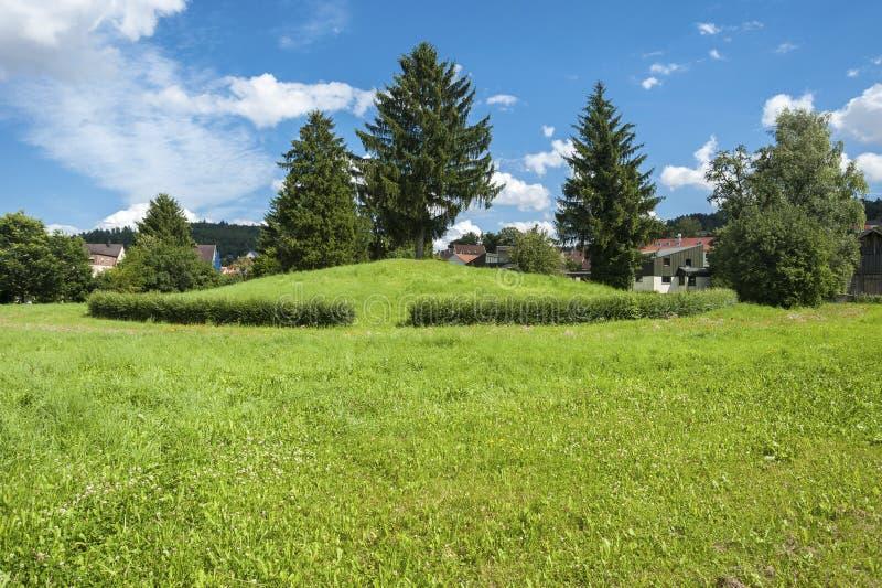 Dziejowi celta wzgórza Krautbà ¼ hl w Nagold obrazy stock
