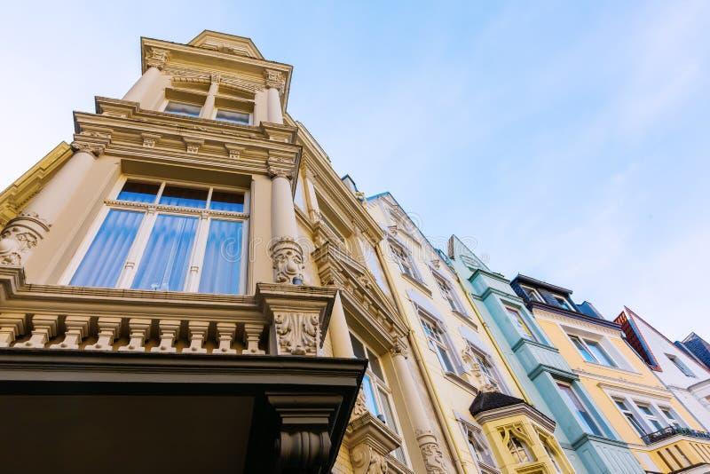 Dziejowi domy w Aachen, Niemcy fotografia royalty free