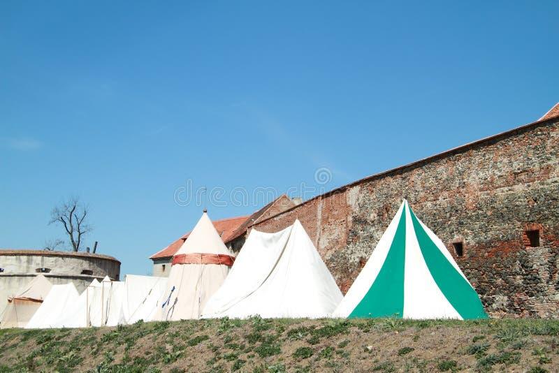 dziejowi namioty zdjęcie stock
