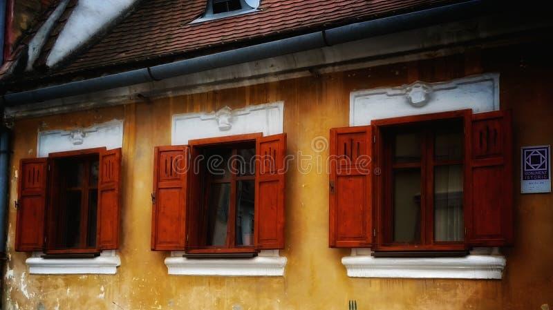 Dziejowi okno zdjęcia stock