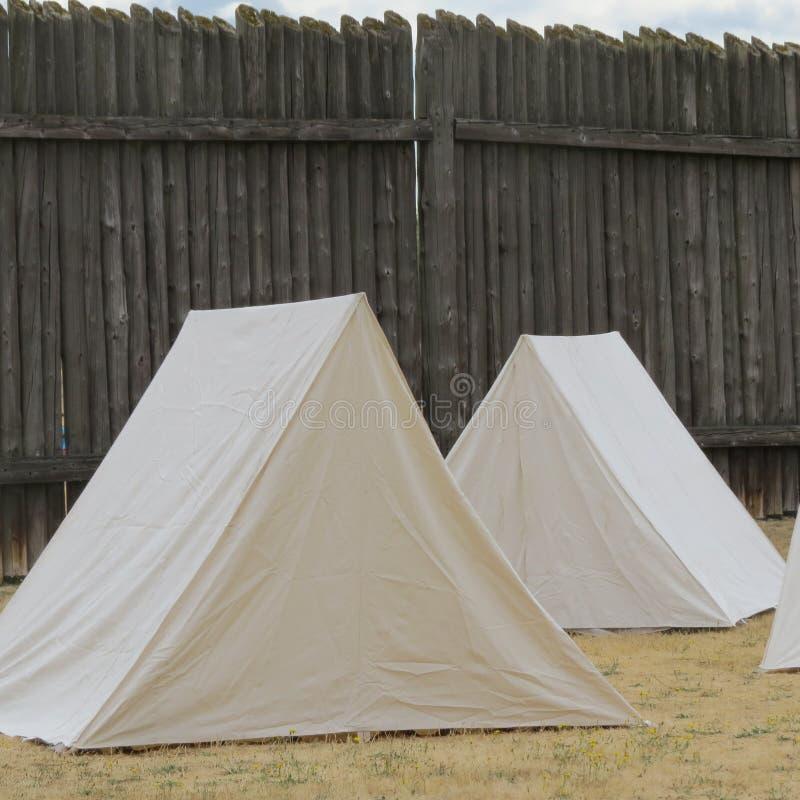Dziejowi Starzy Zachodni namioty obraz royalty free