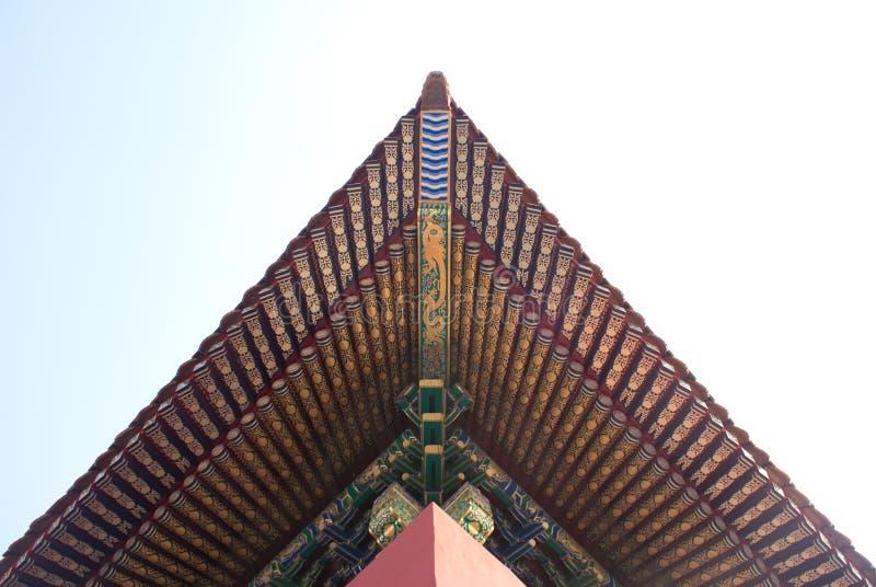 dziejowy Beijing architektoniczny dach fotografia royalty free