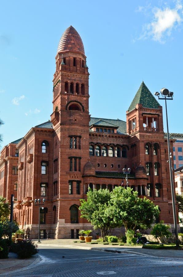 Dziejowy budynek - Bexar okręgu administracyjnego gmach sądu zdjęcia royalty free