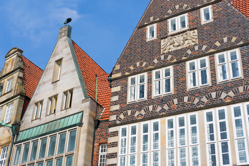 Dziejowy budynek w Bremen obrazy royalty free