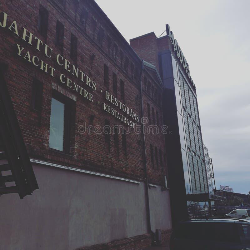 Dziejowy budynek w Jurmala obraz royalty free