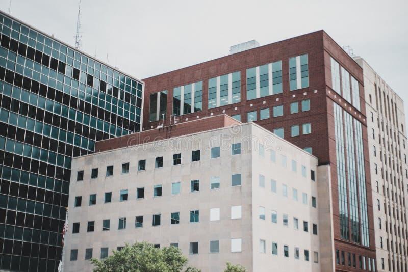 Dziejowy budynek w Wschodnim Lansing zdjęcia stock