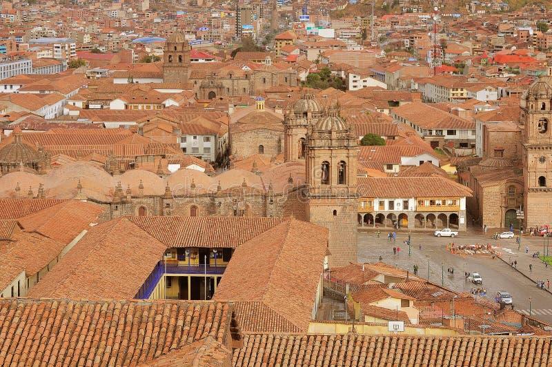 Dziejowy centrum Cuzco, zdjęcie royalty free
