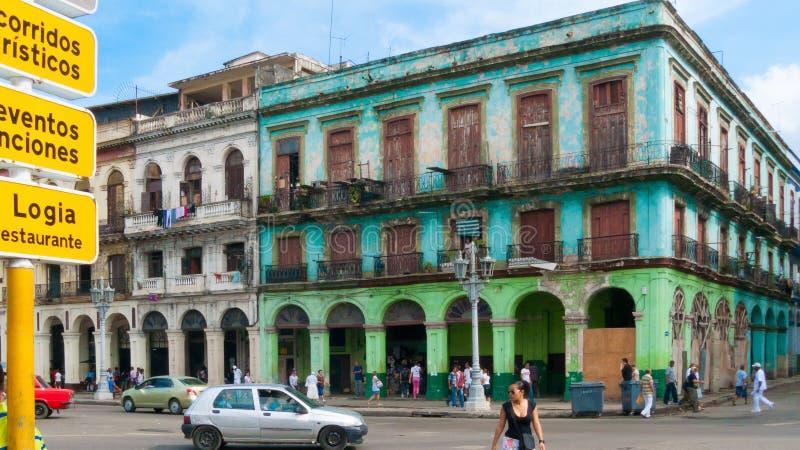 Dziejowy centrum Havana paseo marti widok zdjęcie royalty free