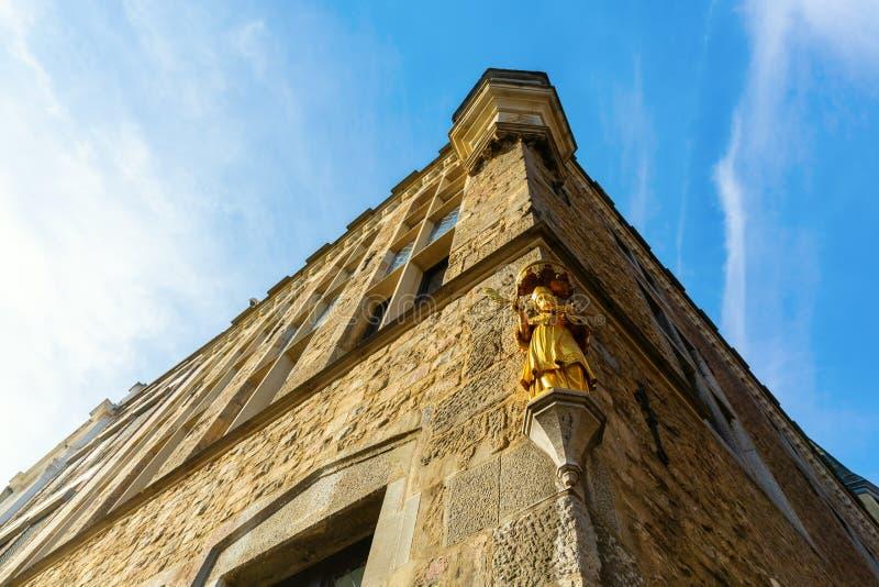 Dziejowy Domowy Loewenstein w Aachen, Niemcy fotografia royalty free