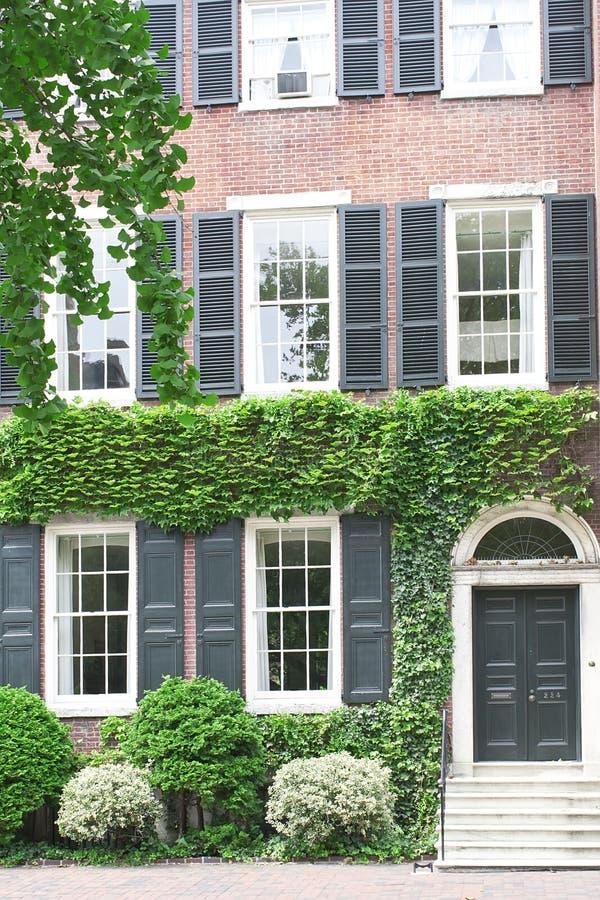 dziejowy domowy Pennsylvania Philadelphia zdjęcia royalty free