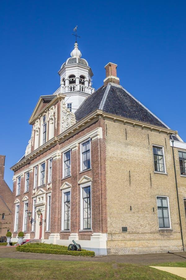 Dziejowy dwór Crackstate w centrum Heerenveen obraz royalty free