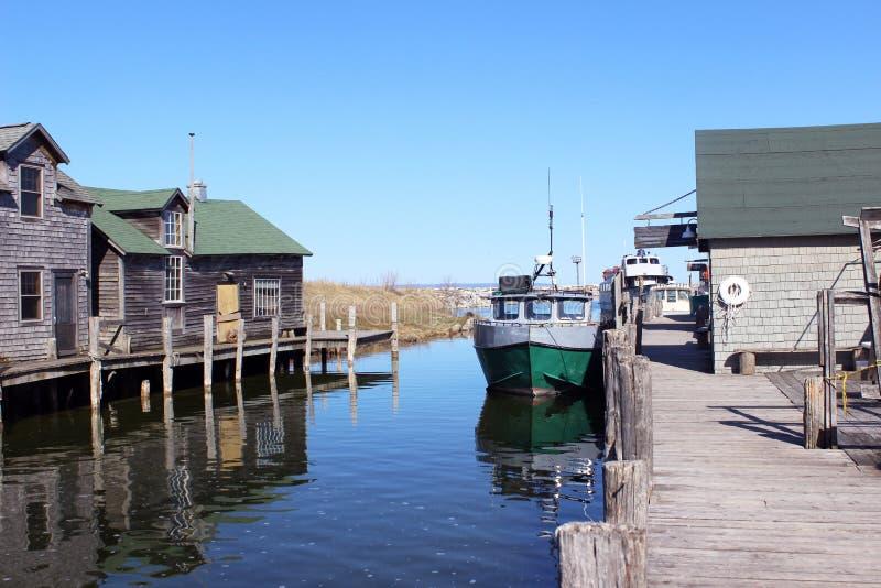 Dziejowy Fishtown Leland, Michigan zdjęcia stock