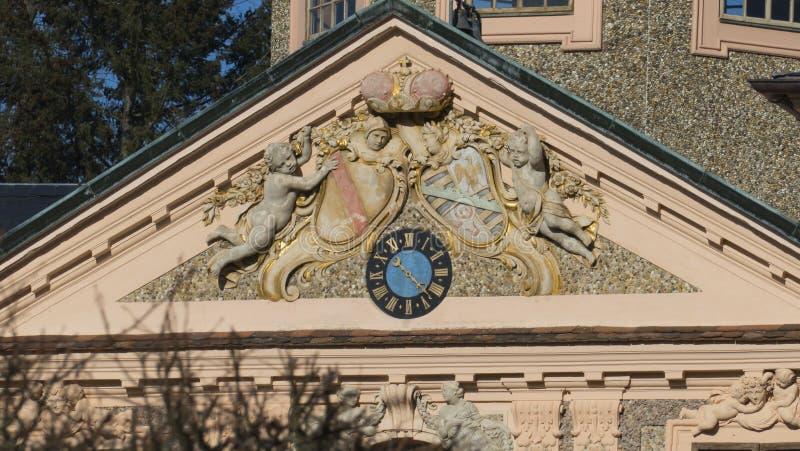 Dziejowy, grodowy faworyt z Förch, w społeczeństwie, wolno dostępny park, Rastatt w Czarnym lesie zdjęcie stock