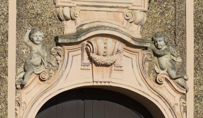 Dziejowy, grodowy faworyt z Förch, w społeczeństwie, wolno dostępny park, Rastatt w Czarnym lesie obraz royalty free