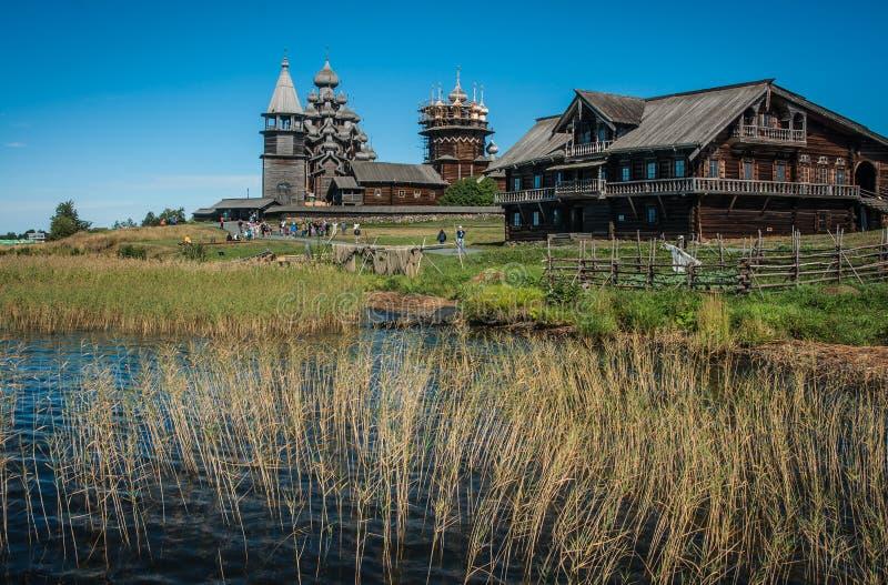 Dziejowy i Architektoniczny muzeum w Kizhi, Karelia zdjęcie royalty free
