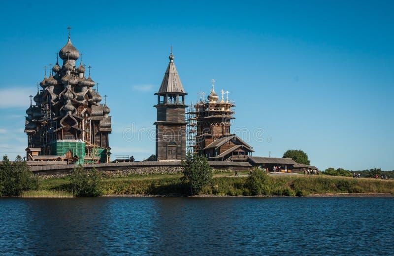 Dziejowy i Architektoniczny muzeum w Kizhi, Karelia zdjęcia stock
