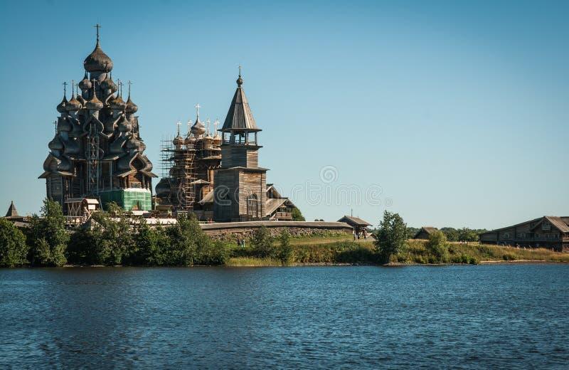 Dziejowy i Architektoniczny muzeum w Kizhi, Karelia obrazy stock