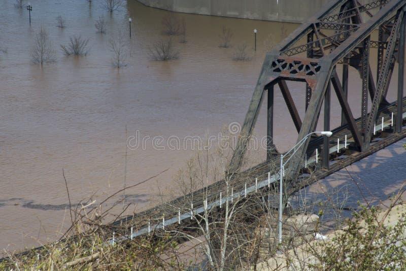 Dziejowy linia kolejowa most fotografia stock
