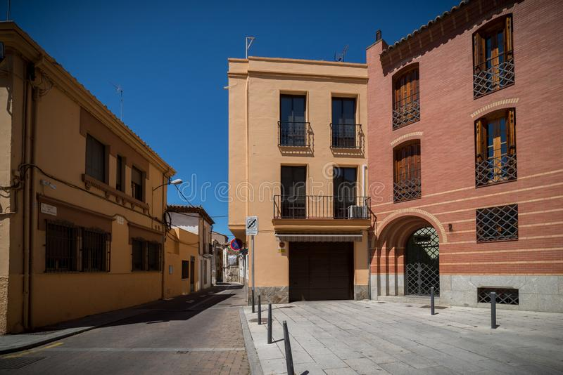 Dziejowy miasto Esapña ` s cente obrazy royalty free