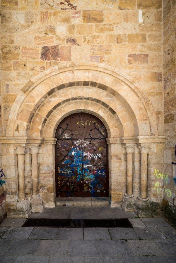 Dziejowy miasto Esapña ` s cente obrazy stock