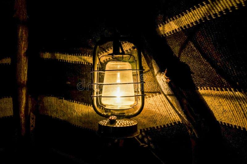 Dziejowy muzeum w Dubaj Stary lampion w namiocie Dubaj fotografia stock