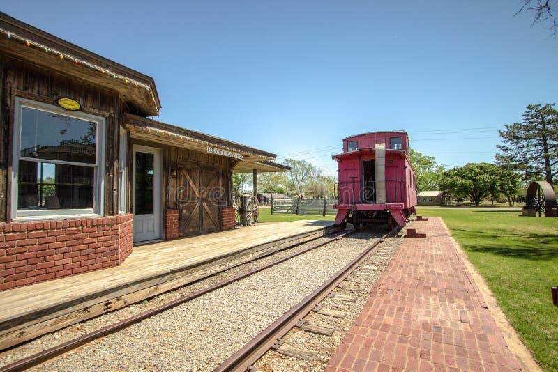Dziejowy Oklahoma dworzec Wzdłuż Route 66 fotografia stock